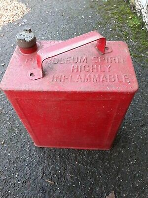 Vintage petrol can with esso cap