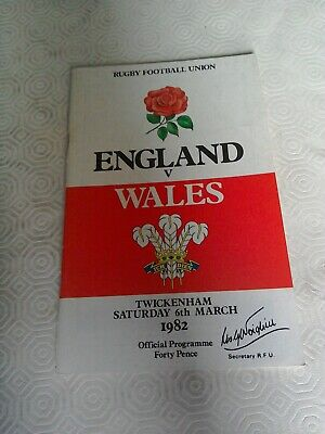 1982-England V Wales-Five Nations-International Rugby Union Programme-