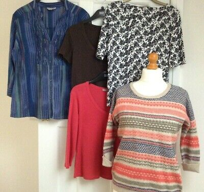 HUGE M&S Tops Bundle UK Size 14 Marks and Spencer TShirts Blouse Jumper VGC