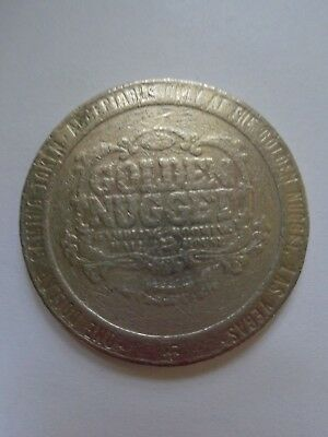 Las Vegas Casino Chips Golden Nugget Silver Tone Coin