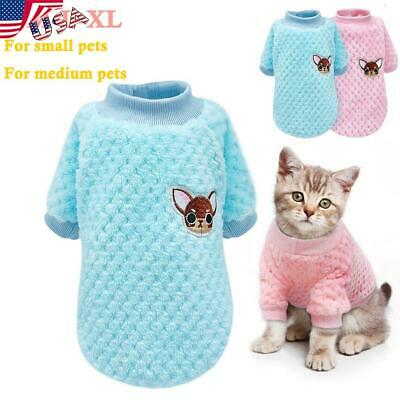 Dog Knitted Sweater Embroidery Chihuahua Clothes Pet Puppy Cat Jumper Yorkie USA