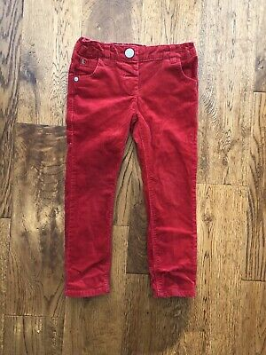 next girls 2-3 years Red Cord Christmas Trousers VGC
