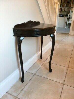 Half-round console table mahogany effect - postage included