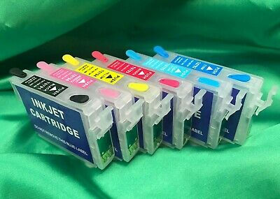 Epson Artisan Compatible for 1400,1430 (set of 6) REFILLABLE Ink Cartridges