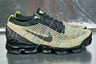 Nike Air Vapormax Flyknit 3.0 Black/Multicolor Aj6900-006 Us Men Sz 11.5