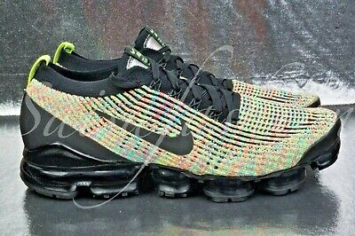 Nike Air Vapormax Flyknit 3.0 Black/Multicolor Aj6900-006 Us Men Sz 10.5