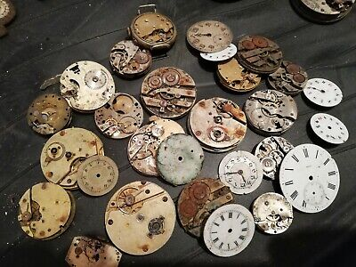 Approx 15 Antique  Small Pocket Watch Movements