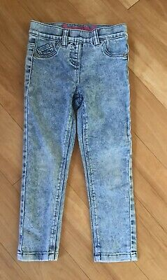 Next Girls Age 4 Years Skinny Stretch Jeggings Jeans Worn Once