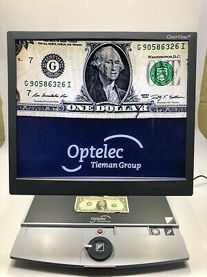 """Optelec Clearview+ Magnifier & 17"""" Clearview+ Monitor"""