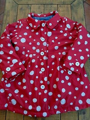 Hatley Red White Polka Dot Mac Raincoat Jacket age 7