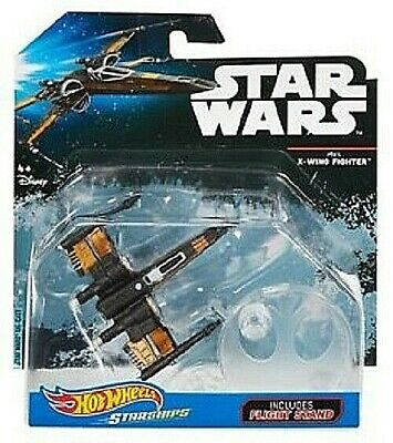 Hot Wheels Metal Star Wars Starships Poe Dameron's X-Wing With Stand NEW