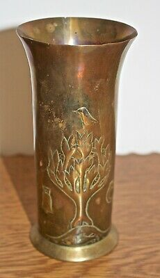 Antique Keswick School Of Industrial Art (Ksia) Arts And Crafts Brass Vase