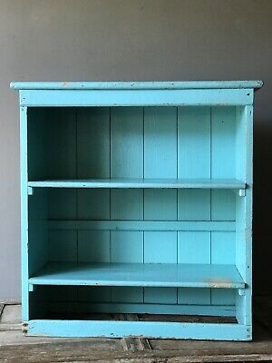 Antique Vintage Pine Country House  Painted Shelve Rustic