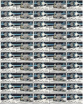 FULL SHEET 8 cent stamps scott  # 1434-1435 Decade of Space Achievement