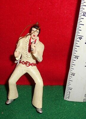 Lqqk    Elvis  Presley  [  Elvis  With  Red Belt ] Ornament  Used  No  Box