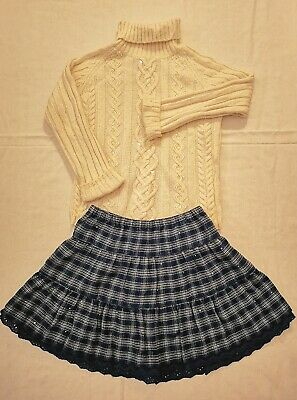 Girls Winter Skirt And Angora Mix Sparkly Jumper By Gap Age 5 6