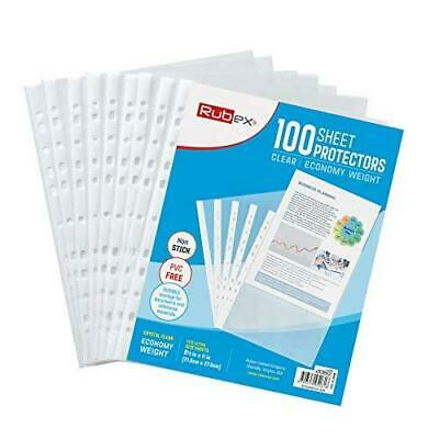 Sheet Protectors, Holds 8.5 x 11 inch Sheets, 9.25 x 11.25 100 Sheets