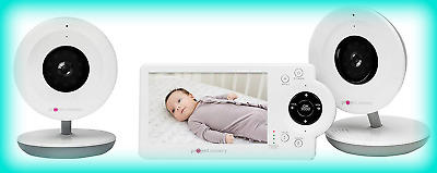 """Project Nursery PNM4N12 Video Baby Monitor w/ 2 Cameras and 4.3"""" Screen - White"""