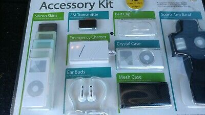 Apple Ipod Nano MP3 PLAYER ACCESSORY KIT Includes Emergency Charger