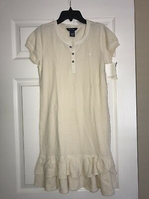 NWT Ralph Lauren Girls Beige  Pony Dress  Sz. XL  16