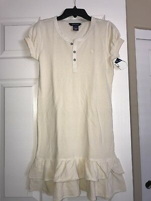 NWT Ralph Lauren Girls Beige  Pony Dress  Sz. Large 12/14