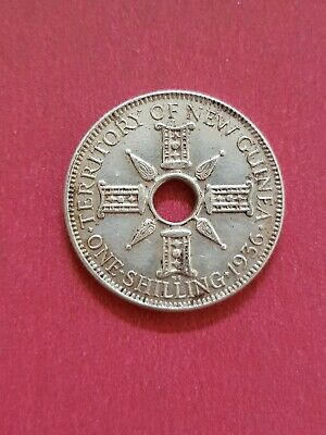 1936 Territory Of New Guinea Shilling Coin .925 Silver