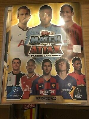 Match Attax 2019/20 Full Set Of All 320 Cards In Binder + 4 Limiteds Mint