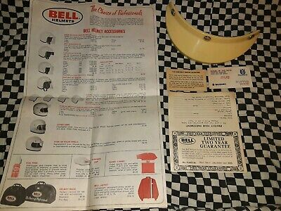 Vintage Bell Helmet 520 Visor Accessories Chart Mounting Instructions 70s
