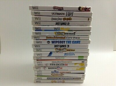Nintendo Wii Games Complete Fun Pick & Choose Video Games Great Condition!