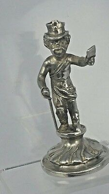1899 Miniature silver figure of an early postman by Berthold Muller Chester