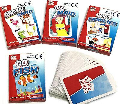 Traditional Card Game Go Fish Old Maid Snap Boys Girls Children Home Classic Toy
