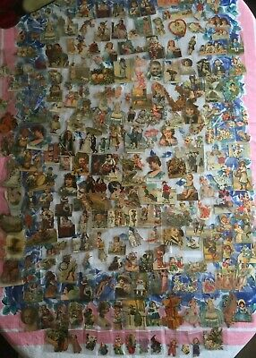 Large Lot Collection 235 Antique Victorian Die-Cuts Ephemera Individual Envelope