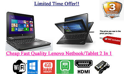 Lenovo Yoga 11e Touch Windows 10 TABLET / Netbook 2 in 1 4GB 128GB SSD WiFi HDMI
