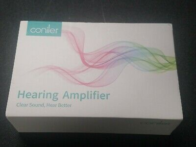 Coniler hearing amplifier D206 rechargeable sound amplifier 1 fits both ears
