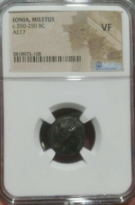 Ionia Miletus c.350-250 BC AE17 NGC VF ANCIENT Greek certified