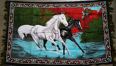 Black & White Horse wall Tapestry ( pack of 10 pieces)