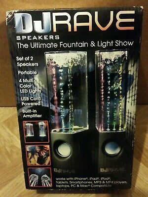 DJ Rave Dancing Water Speakers The Ultimate Fountain and Light Show Brand New