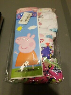 Peppa Pig 2T/3T Toddler Girls Panties 7 Pair