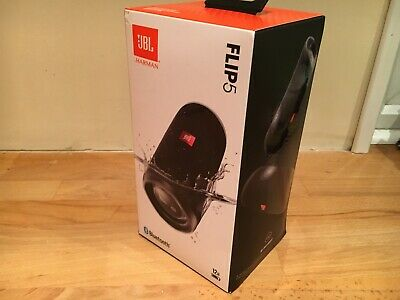 JBL Flip 5 Portable Bluetooth Speaker - Black NEW