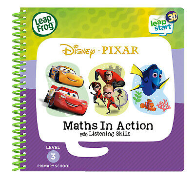 Leapfrog Leapstart Level 3 Disney Pixar Maths In Action Book (3D Enhanced)