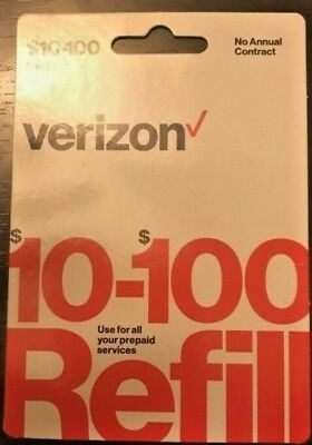Verizon Wireless Prepaid $55 Refill Top Up (RTR Direct Load to Phone) 1-24 hours