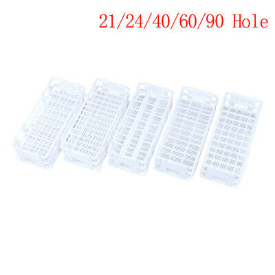 "Plastic Test Tube Rack Holder Stand Support For 0.51-1.18"" 21/24/40/60/90 Hole"