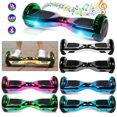 Bluetooth Hoverboard Chrome Electric Self Balancing Scooter LED Light Free Bag
