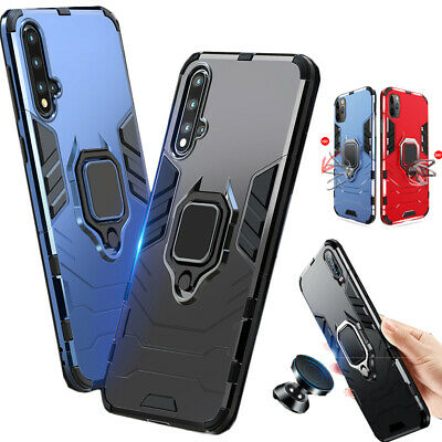 Shockproof Heavy Duty Armor Magnet Ring Case Cover for Xiaomi Mi 9T Redmi Note 8