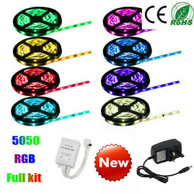 5M-10M Rgb Led Strip Lights Colour Changing Tape Under Cabinet Kitchen Lighting