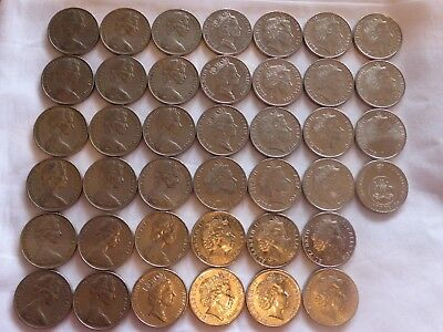 Australian 20c Platypus coin 1966 to 2017 circ coins set 20 cent excl 1985