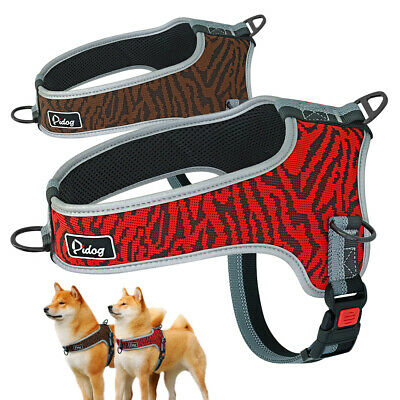 Reflective No Pull Dog Harness Front Leading Adjustable Padded Vest for Bulldog