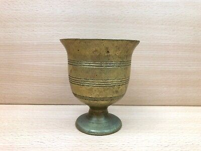 Vintage Heavy Solid Brass Goblet Chalice Style Apothecary Mortar without Pestle