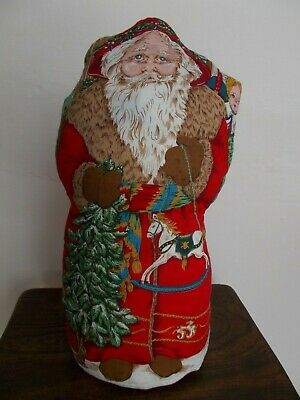 Large Vintage Father Christmas Rag Doll~Traditional Victorian Style Santa Claus