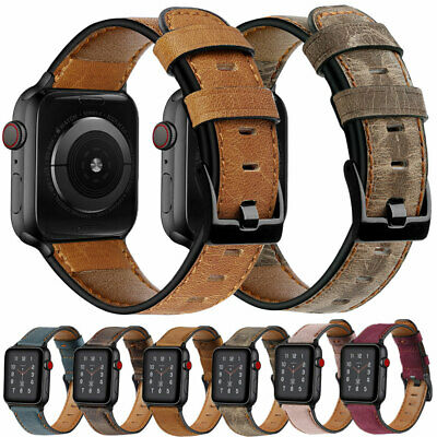 38/42/40/44mm Genuine Leather Band Strap For Apple Watch iWatch Series 5 4 3 2 1